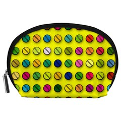 Multi Col Pills Pattern Accessory Pouches (large)  by ScienceGeek