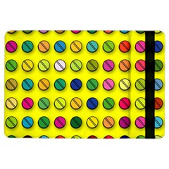 Multi Col Pills Pattern Ipad Air 2 Flip by ScienceGeek