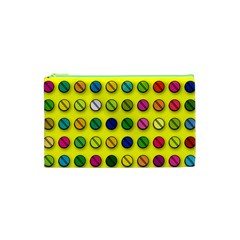 Multi Col Pills Pattern Cosmetic Bag (xs) by ScienceGeek