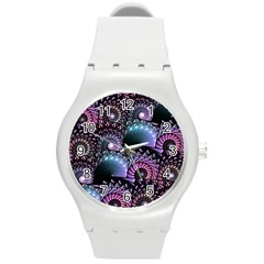 Stunning Sea Shells Round Plastic Sport Watch (m) by KirstenStar