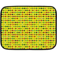 Multi Col Pills Pattern Fleece Blanket (mini) by ScienceGeek