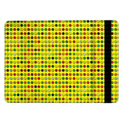 Multi Col Pills Pattern Samsung Galaxy Tab Pro 12 2  Flip Case by ScienceGeek