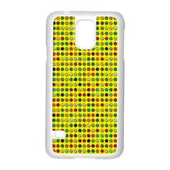 Multi Col Pills Pattern Samsung Galaxy S5 Case (white) by ScienceGeek