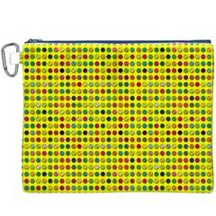 Multi Col Pills Pattern Canvas Cosmetic Bag (xxxl)  by ScienceGeek
