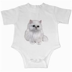 White Persian Cat Clipart Infant Creepers by AlteredStates