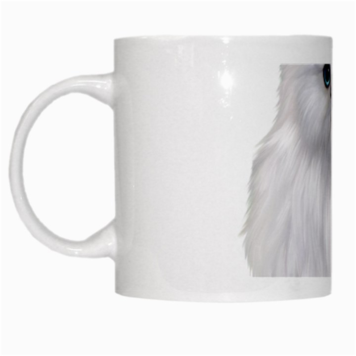 White Persian Cat Clipart White Mugs
