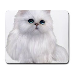 White Persian Cat Clipart Large Mousepads by AlteredStates