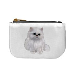 White Persian Cat Clipart Mini Coin Purses by AlteredStates