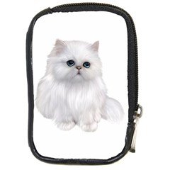 White Persian Cat Clipart Compact Camera Cases by AlteredStates