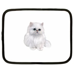 White Persian Cat Clipart Netbook Case (xxl)  by AlteredStates