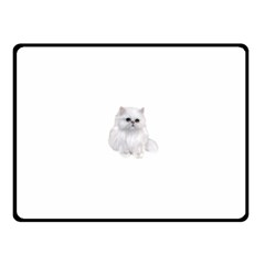 White Persian Cat Clipart Fleece Blanket (small)
