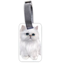 White Persian Cat Clipart Luggage Tags (two Sides) by AlteredStates