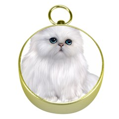 White Persian Cat Clipart Gold Compasses
