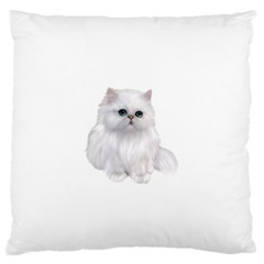 White Persian Cat Clipart Large Flano Cushion Cases (Two Sides)  by AlteredStates
