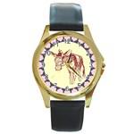 Donkey Round Gold Metal Watch