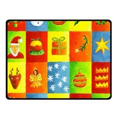 Christmas Things Double Sided Fleece Blanket (small)  by julienicholls