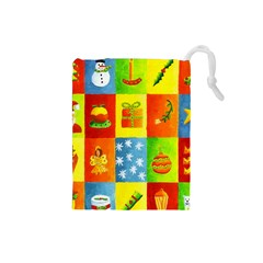 Christmas Things Drawstring Pouches (small)  by julienicholls