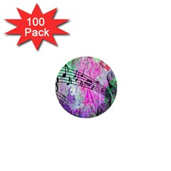 Abstract Music 2 1  Mini Buttons (100 Pack)