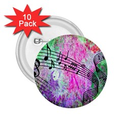 Abstract Music 2 2 25  Buttons (10 Pack)