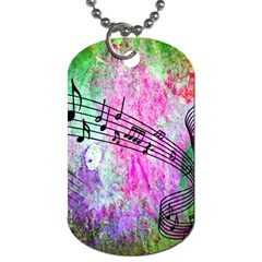 Abstract Music 2 Dog Tag (two Sides) by ImpressiveMoments