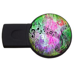 Abstract Music 2 Usb Flash Drive Round (2 Gb)  by ImpressiveMoments