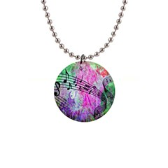 Abstract Music 2 Button Necklaces
