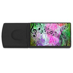 Abstract Music 2 Usb Flash Drive Rectangular (4 Gb)
