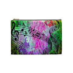 Abstract Music 2 Cosmetic Bag (medium)