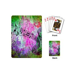 Abstract Music 2 Playing Cards (mini)  by ImpressiveMoments