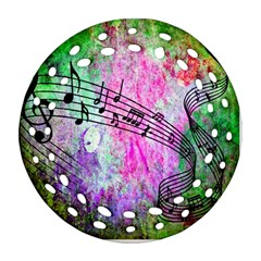 Abstract Music 2 Round Filigree Ornament (2side) by ImpressiveMoments