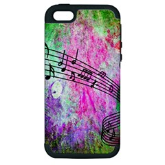 Abstract Music 2 Apple Iphone 5 Hardshell Case (pc+silicone)