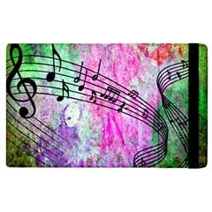 Abstract Music 2 Apple Ipad 2 Flip Case