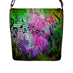 Abstract Music 2 Flap Messenger Bag (l)  by ImpressiveMoments