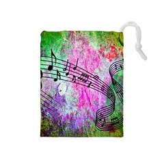 Abstract Music 2 Drawstring Pouches (medium)