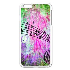 Abstract Music 2 Apple Iphone 6 Plus Enamel White Case