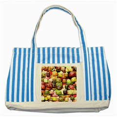 Stones 001 Striped Blue Tote Bag  by ImpressiveMoments