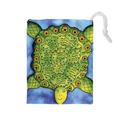 Turtle Drawstring Pouches (large)  by julienicholls