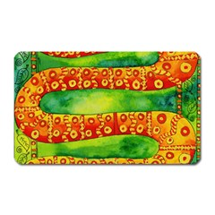 Patterned Snake Magnet (rectangular) by julienicholls