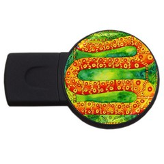 Patterned Snake USB Flash Drive Round (2 GB)  by julienicholls