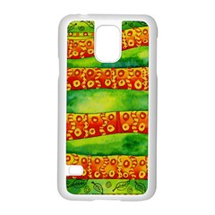 Patterned Snake Samsung Galaxy S5 Case (white)