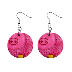 Patterned Pig Mini Button Earrings by julienicholls