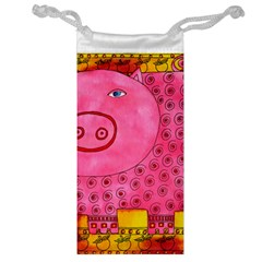 Patterned Pig Jewelry Bags by julienicholls