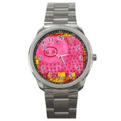 Patterned Pig Sport Metal Watches by julienicholls