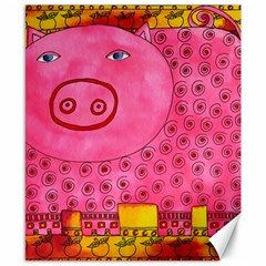Patterned Pig Canvas 8  X 10  by julienicholls