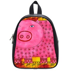 Patterned Pig School Bags (small)  by julienicholls