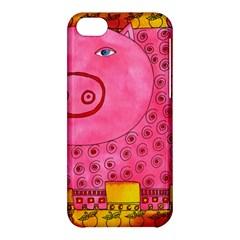 Patterned Pig Apple Iphone 5c Hardshell Case by julienicholls