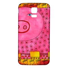 Patterned Pig Samsung Galaxy S5 Back Case (white) by julienicholls