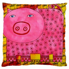 Patterned Pig Standard Flano Cushion Cases (two Sides)  by julienicholls