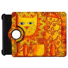 Patterned Lion Kindle Fire Hd Flip 360 Case by julienicholls