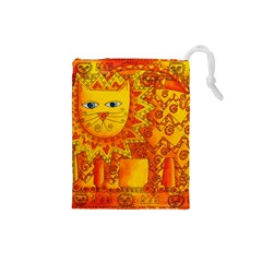 Patterned Lion Drawstring Pouches (small)  by julienicholls